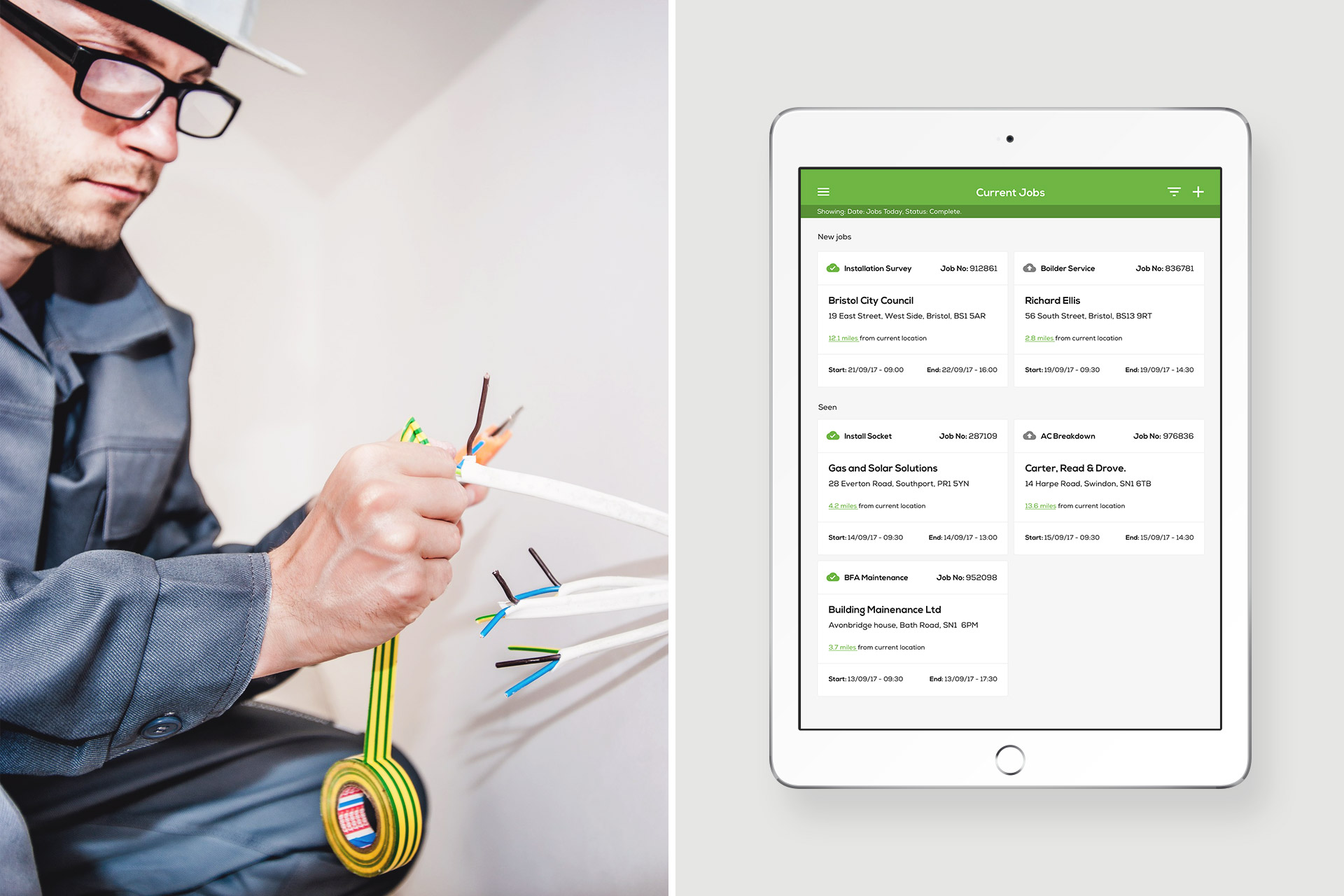 Clik Jobs Mobile UI (User Interface) Design