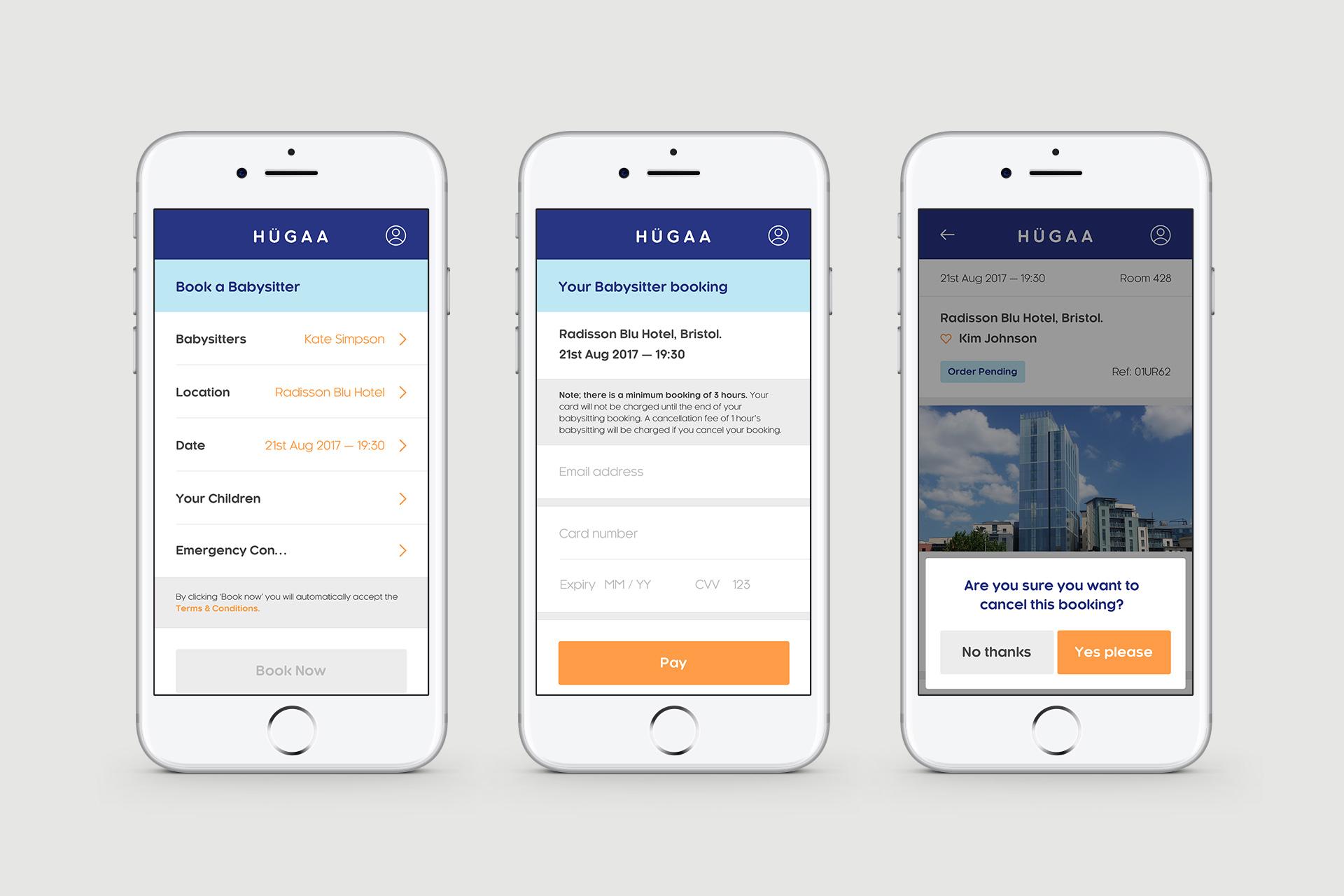 UI (User Interface) Design For Hubaa App