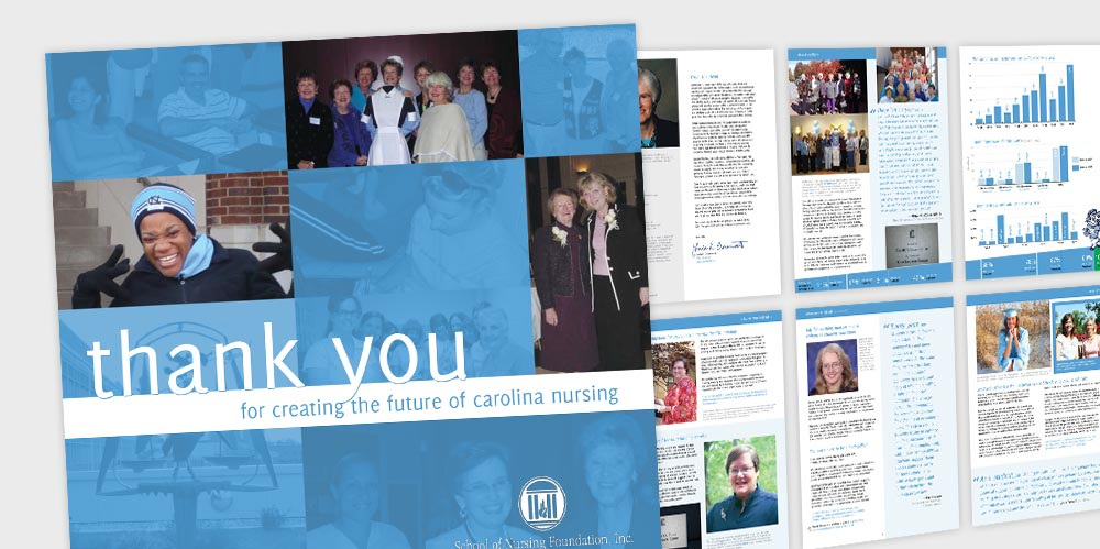 UNC Nursing School magazine design