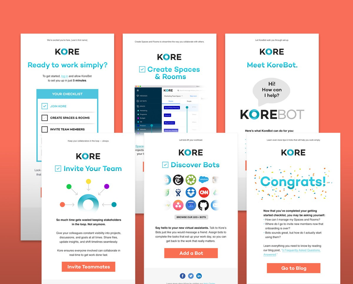 Kore marketing emails