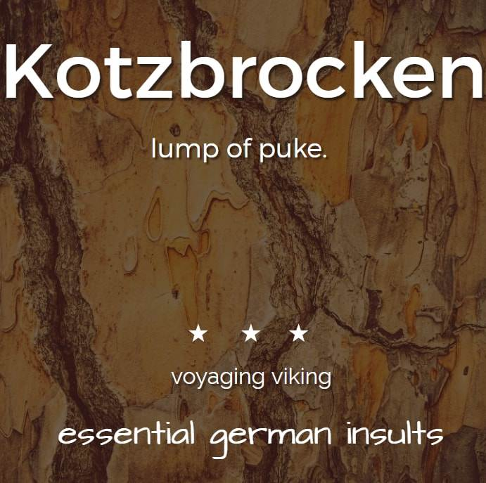 german insults