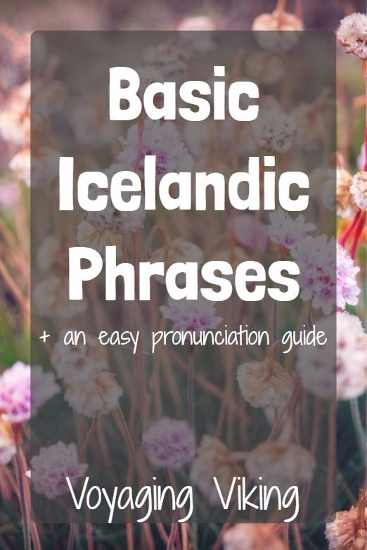 | Voyaging Viking | Basic Icelandic Phrases
