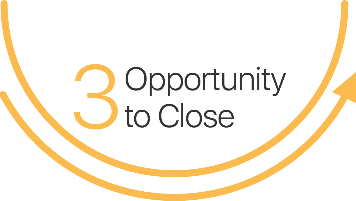 Opportunity to close