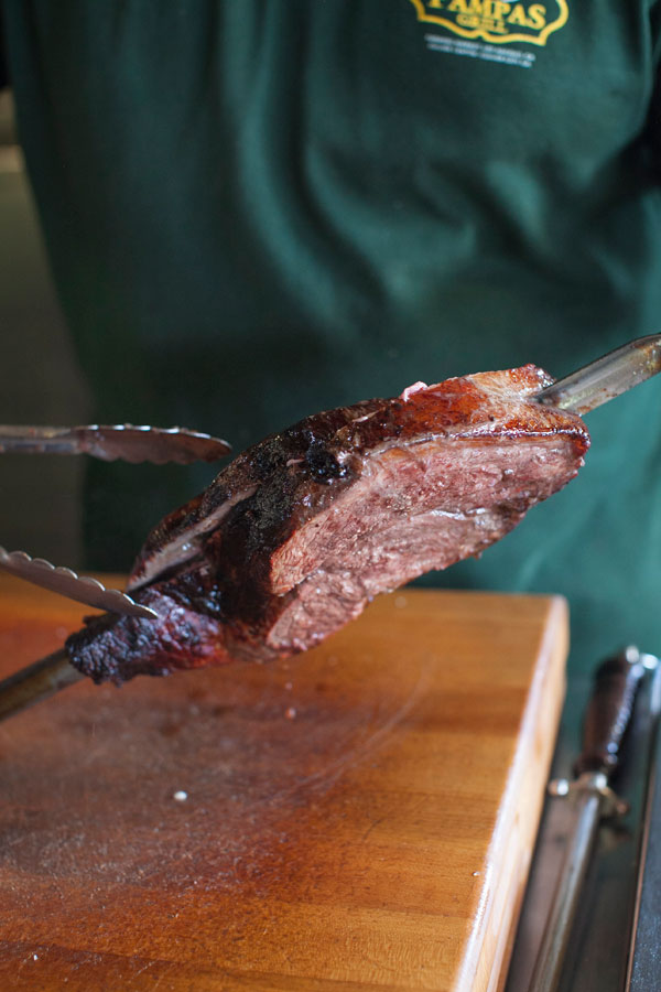 Pampas Meat Carving - Farmers Market Food & History Tour