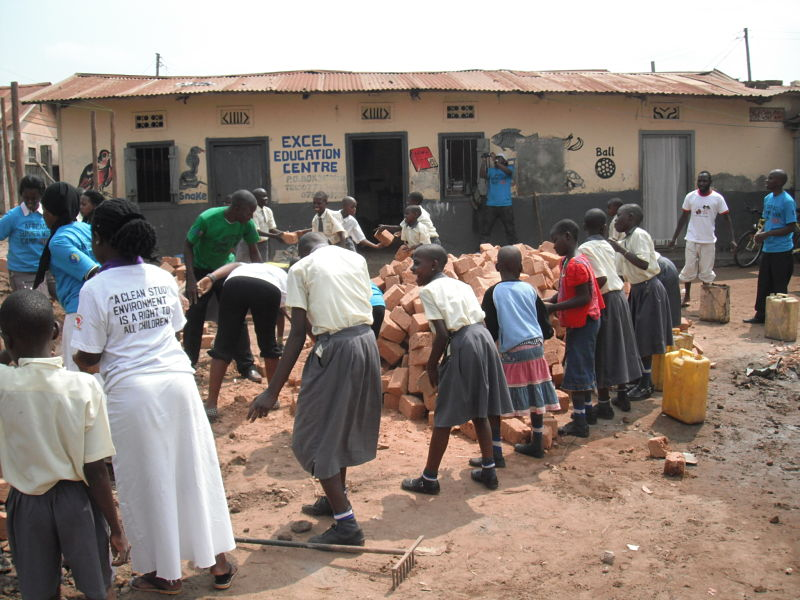 Brick by brick to a new school