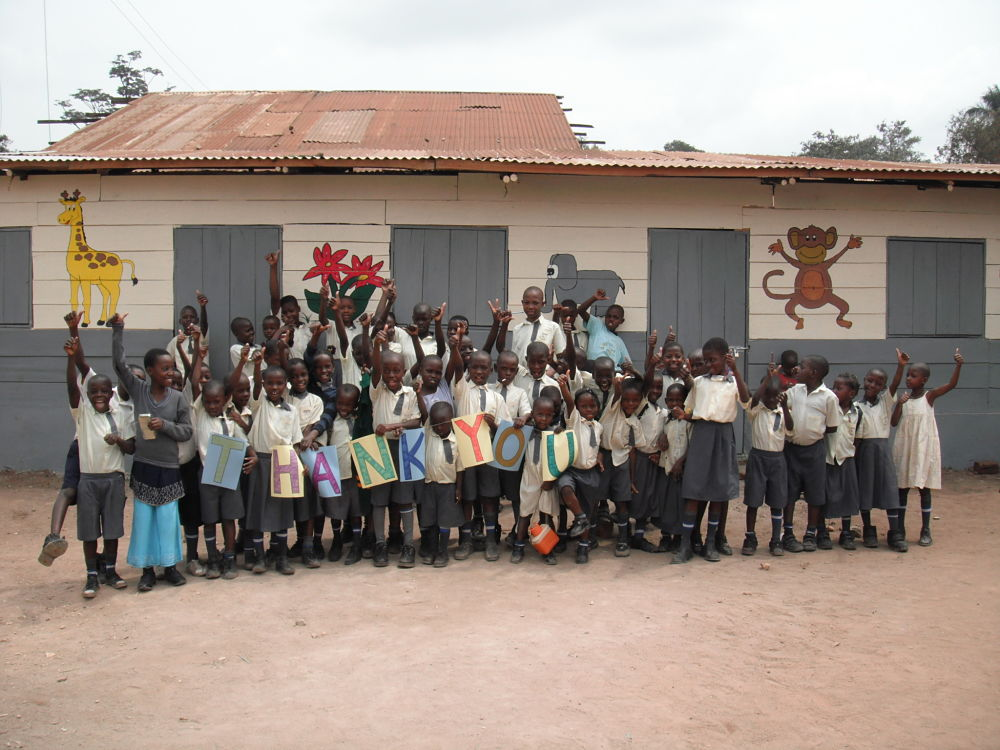 Thanks from pupils at Excel Education Center