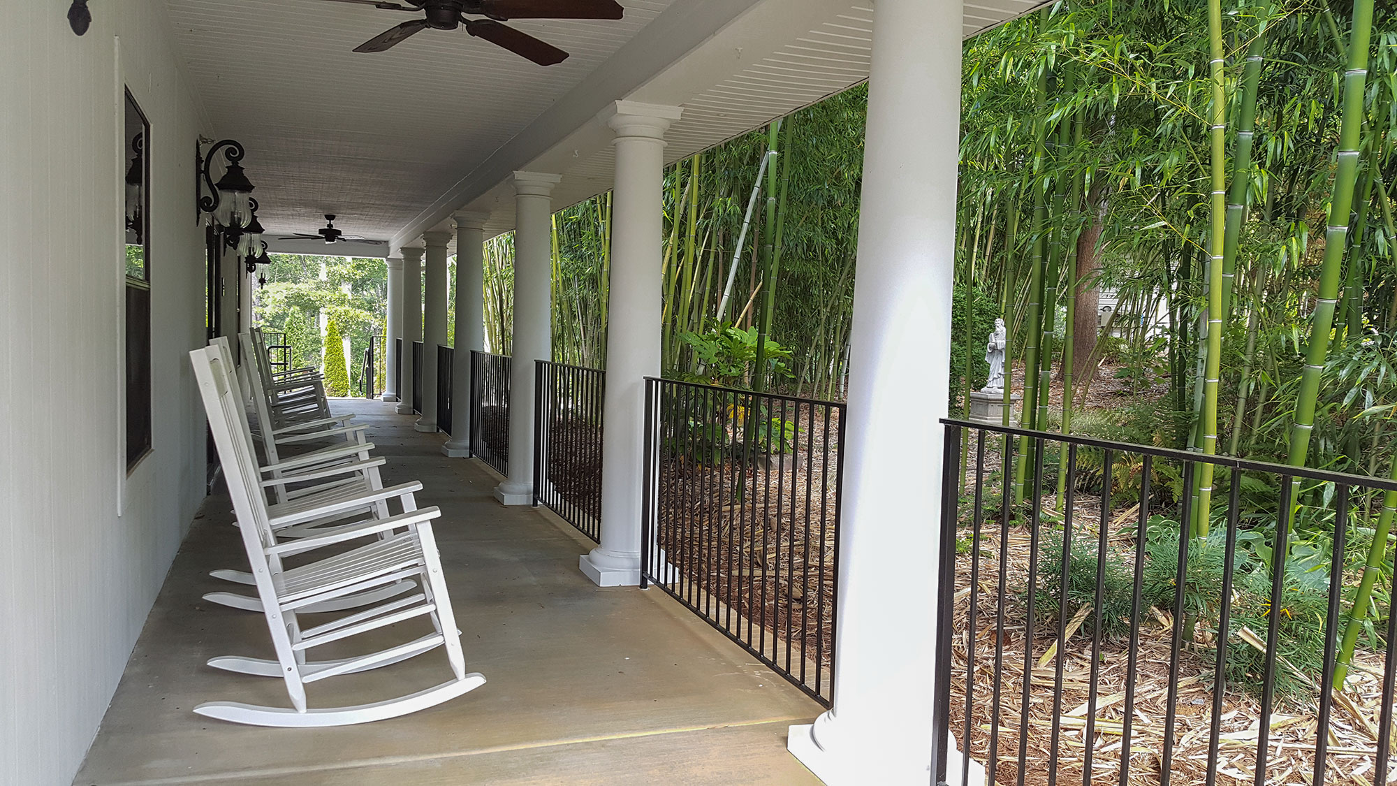 Photo of the porch of our classroom building.