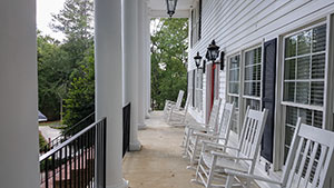View of Residence House porch