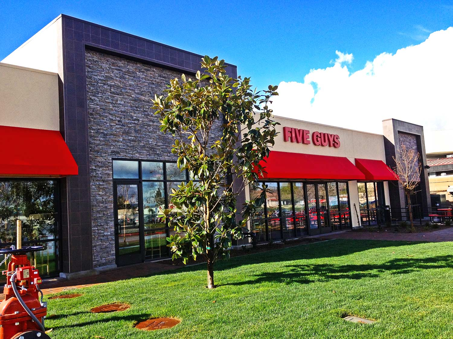 Five Guys Burgers and Fries building exterior