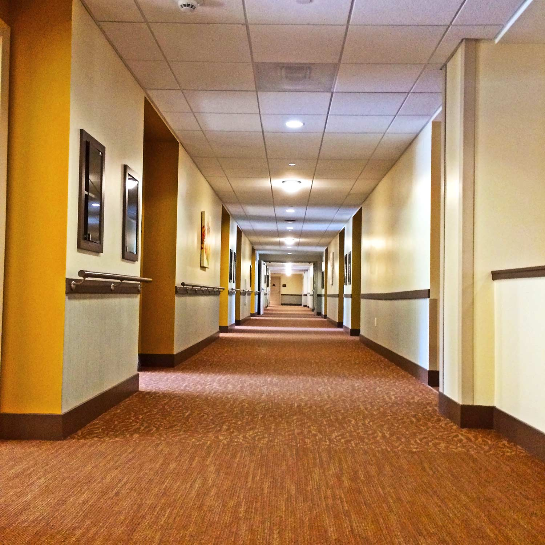 St. Paul's Plaza interior hallway corridor