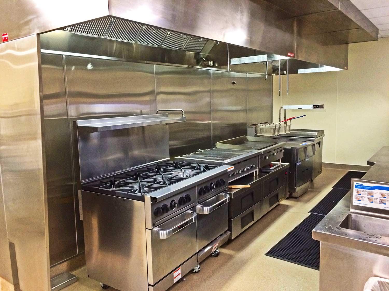 St. Paul's Plaza interior kitchen