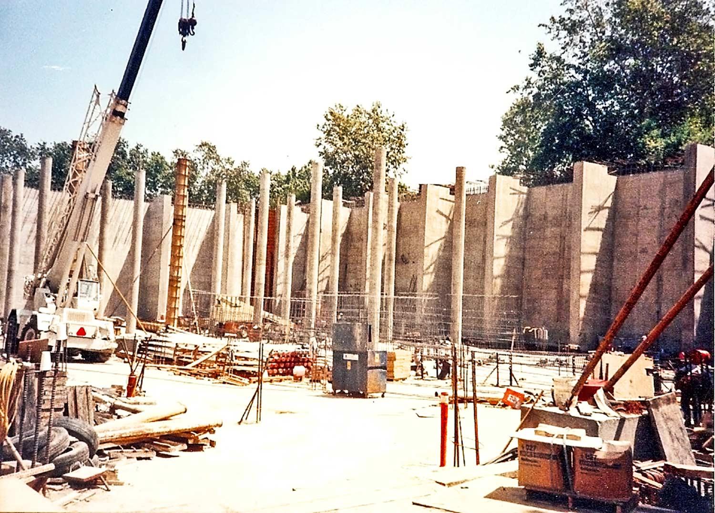 Concrete work being done at Bristol Reservoir