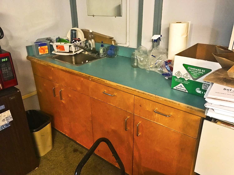 Interior of food pantry