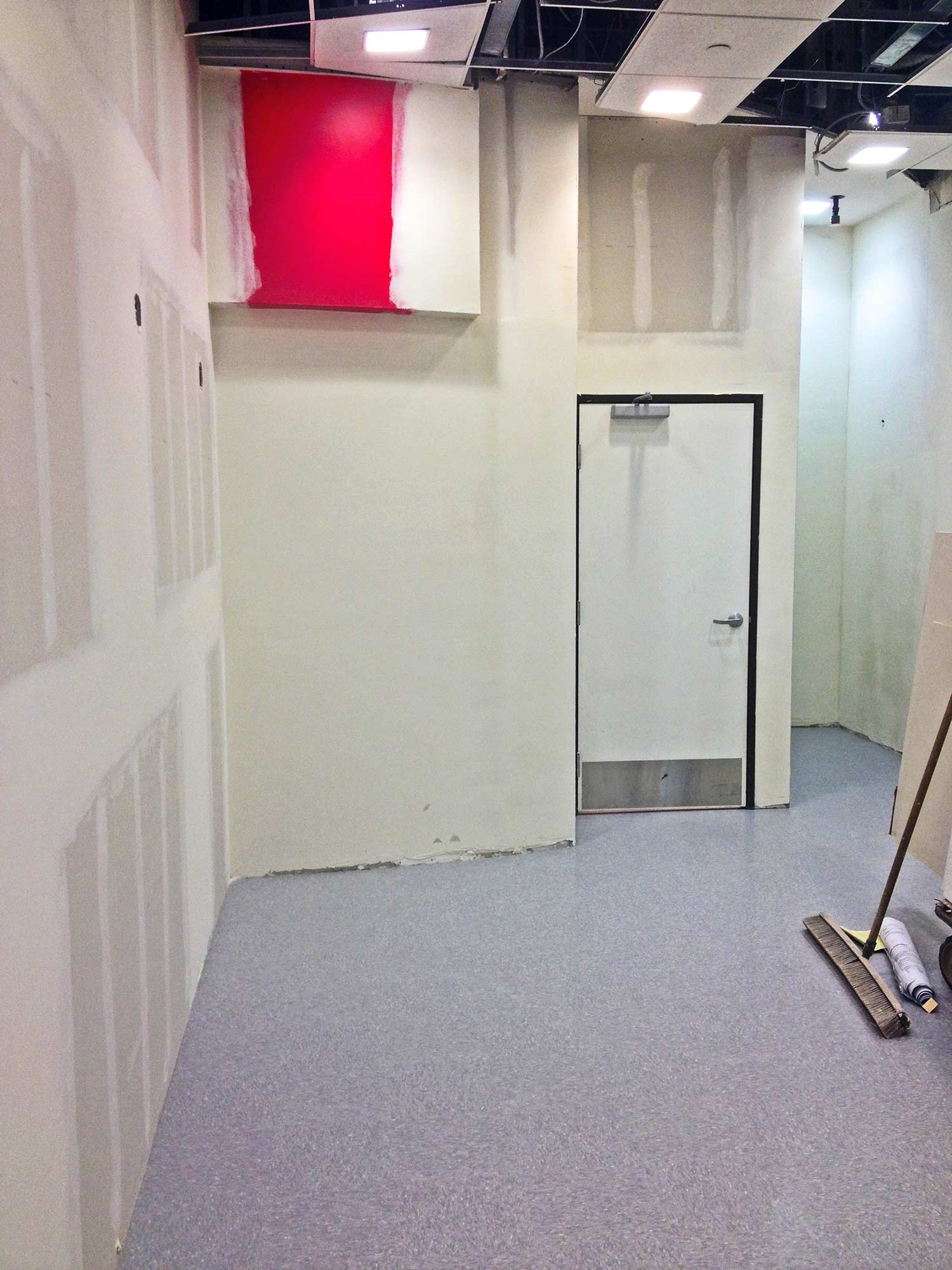 Construction interior of Charlotte Russe