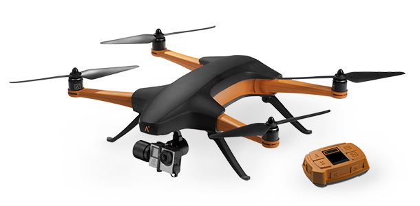 Staaker Auto-Follow Drone with tracker - Perspective