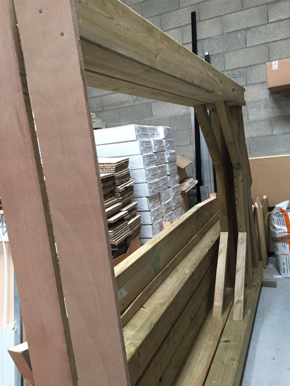 Structure bois pour carport photovoltaïque 6kw prèt à monter