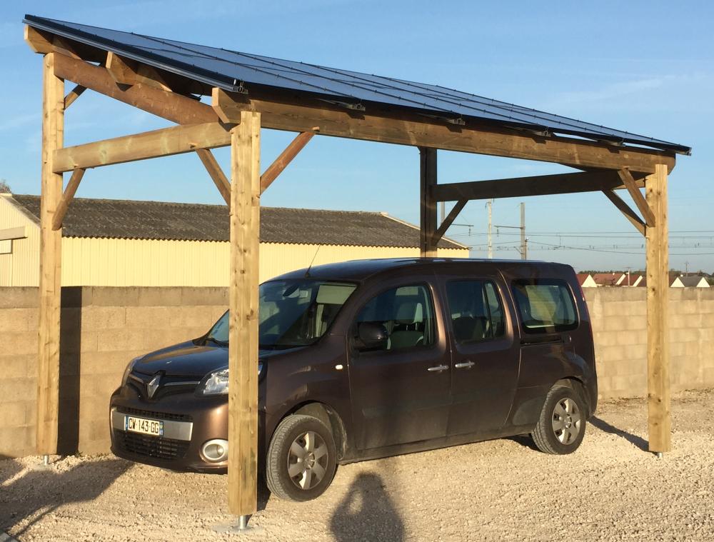 Carport photovoltaique 3kw module hauteur largeur hauteur