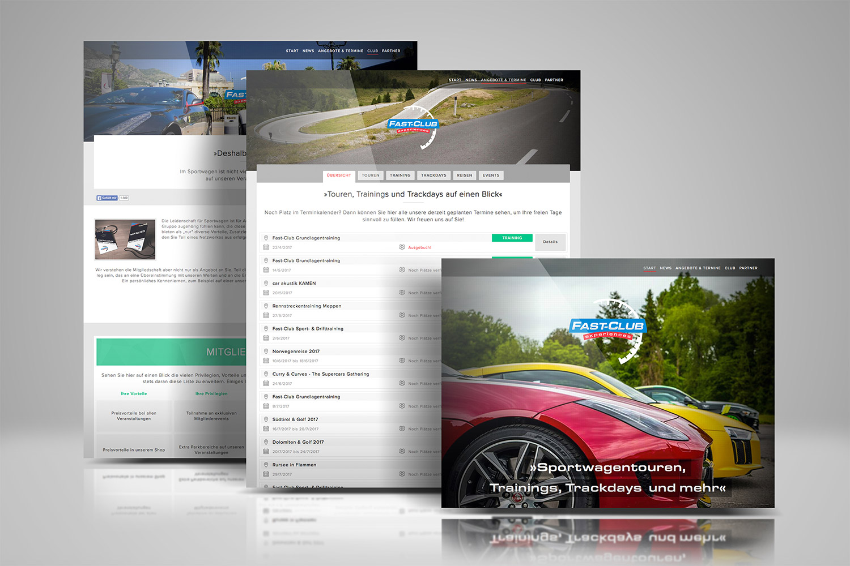 Webseite für Fast-Club | experiences