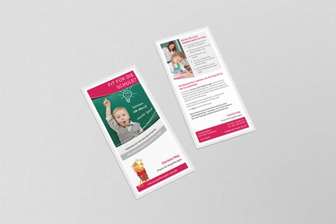 Flyer für Ergotherapie May