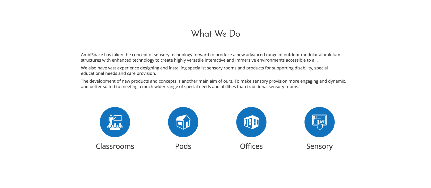AmbiSpace   Landing Page - What We Do