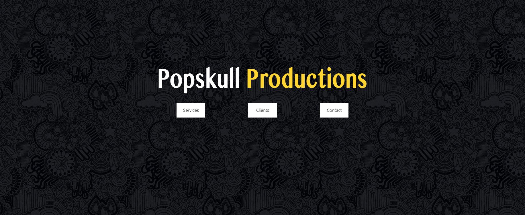 Popskull Productions | Header