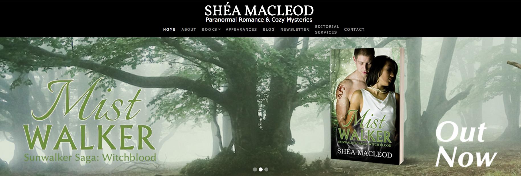 Shéa MacLeod   Menu & Top Banner