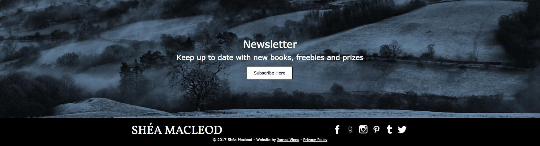 Shéa MacLeod   Newsletter Banner & Footer