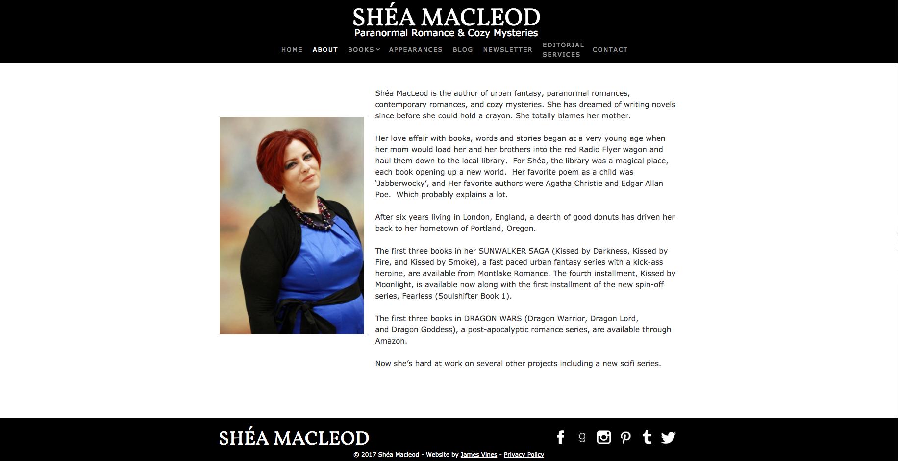 Shéa MacLeod   About Me