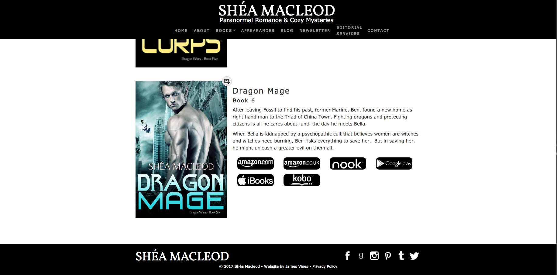 Shéa MacLeod   Completed CMS Work