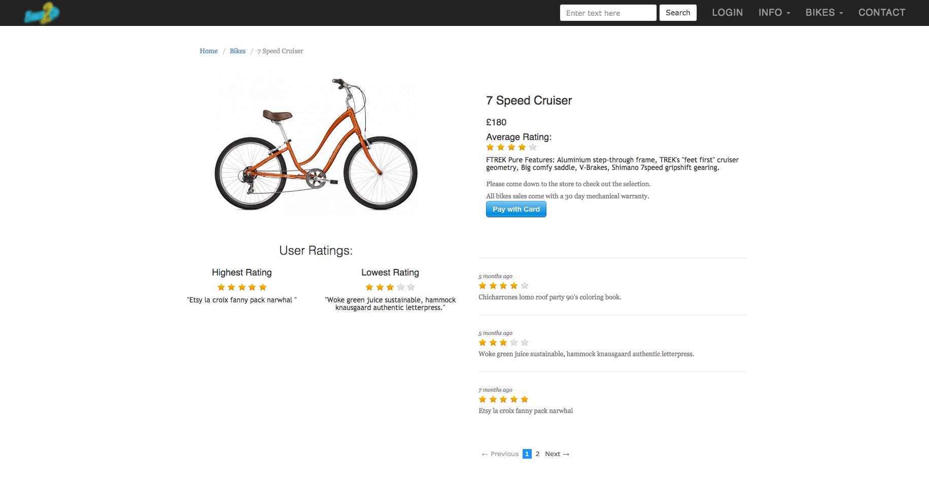 Bikes2Go | 7 Speed Cruiser