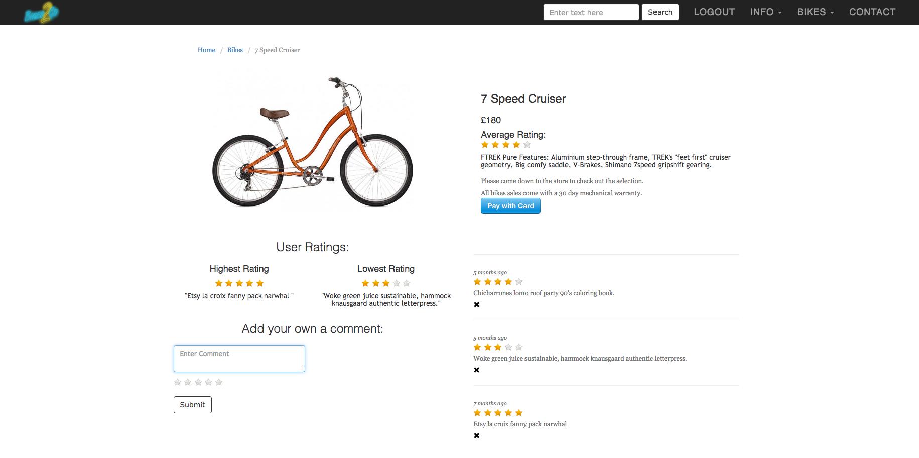 Bikes2Go | Comments