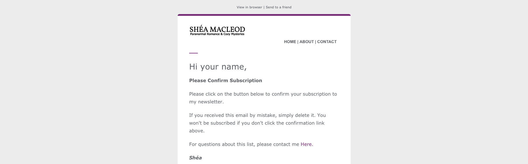 HTML Email | Notification