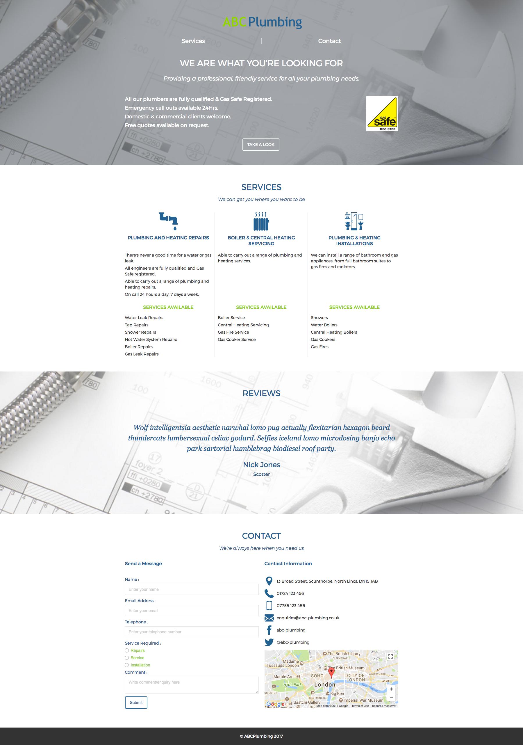 ABC Plumbing - WebFlow version