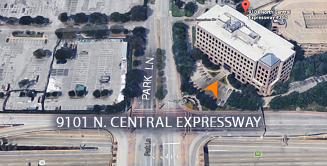 satellite view of 9101 N. Central Expressway