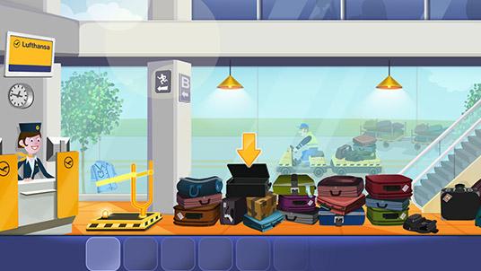 Spiel: Gepäck-Katapult