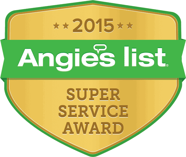 Winner of Angie's List Super Service Award in 2015