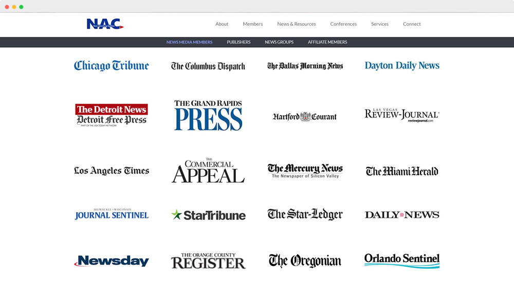 News Advertising Coalition Members