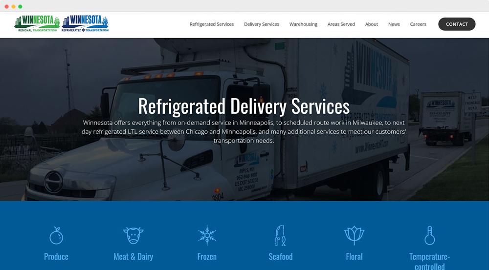Winnesota Regional Transportation refrigerated delivery services