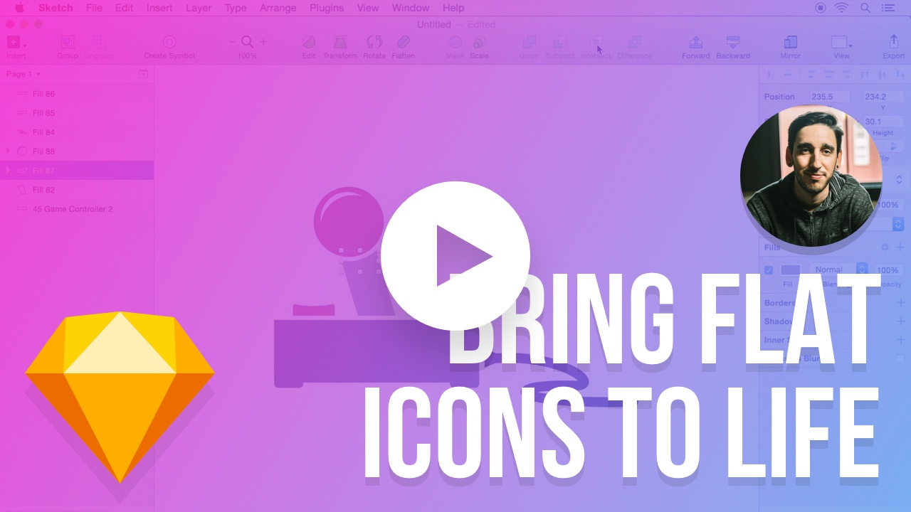 Quickly Bring Flat Icons to Life