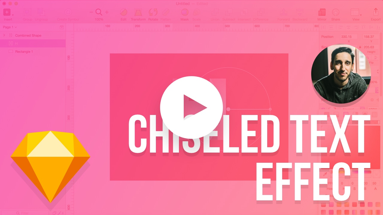 Chiseled Text Effect