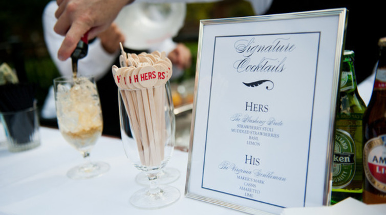 How to choose a signature wedding drink borrowed blue how to choose a signature wedding drink junglespirit Gallery