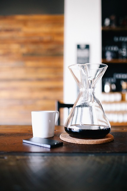 espresso in decanter