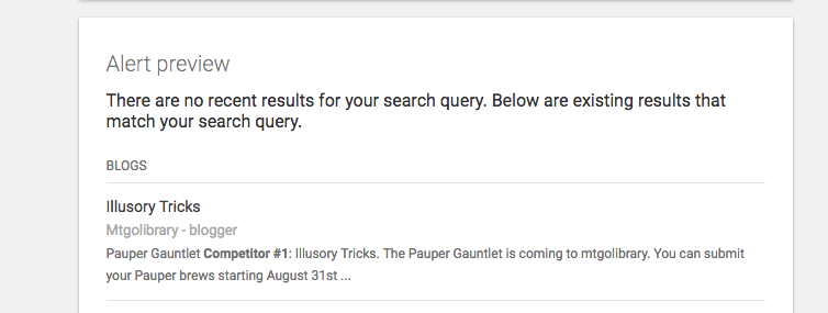 previewing your google alerts