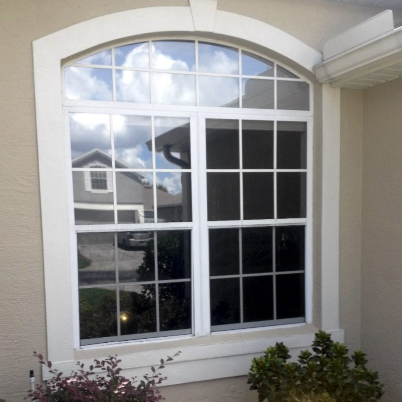 Window after being cleaned in Orlando Florida