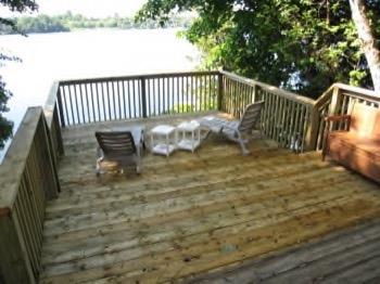 Step down deck - wooden