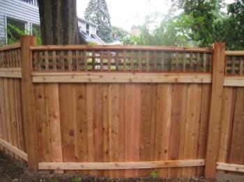 angled wood fence