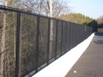 long metal fence