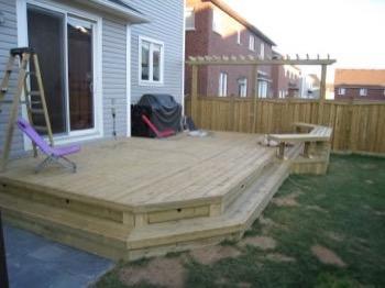 simple open wooden deck