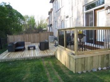 two tier backyard deck