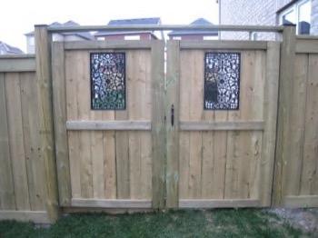 Ornamental wooden gates